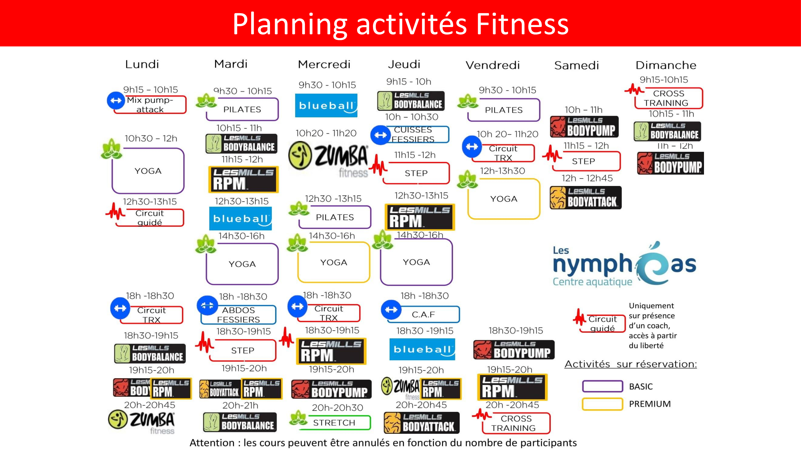 planning fitness noisy le grand